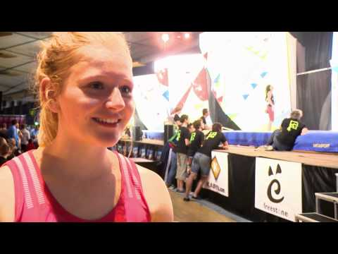 IFSC Climbing Youth Olympic Games 2014 - Delegate Interviews - Jennifer Wood (GBR)