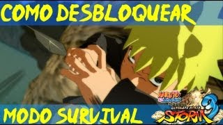 Naruto Storm 3 Como Desbloquear Modo Survival