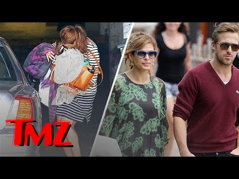 Eva Mendes' Baby Bump Cover Up?