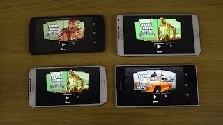 GTA San Andreas Samsung Galaxy S4 Vs. Note 3 Vs. Xperia Z1