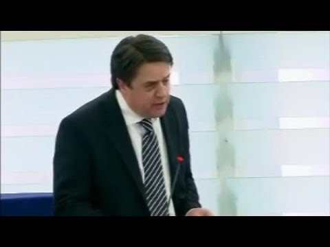 Nick Griffin huge Asylum row with Portuguese Socialist MEP