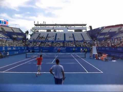 Andy Murray - Grigor Dimitrov practice at Abierto Mexicano de Tenis 2014 Central Court