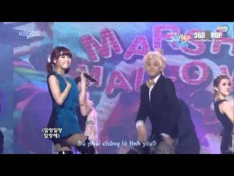 [Vietsub][Perf] IU - Marshmallow (ft. Yoseob)@100101 KBS Music Bank [BEASTeam@360kpop]