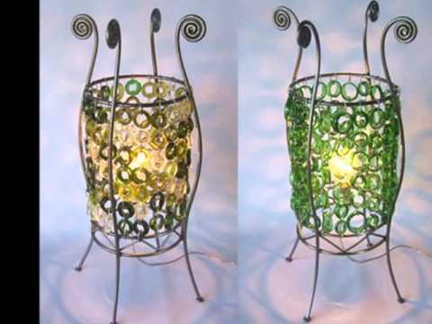 Reciclaje de botellas de vidrio youtube - Manualidades con botellas de cristal ...