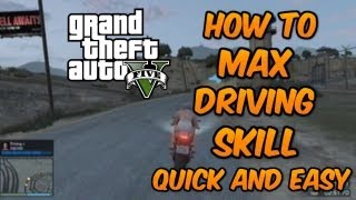 GTA 5 ONLINE : How To Max Driving Stat / Skill Extremly