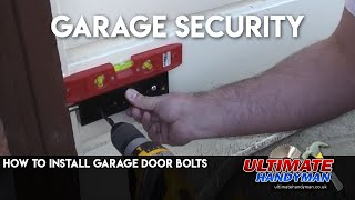Enfield Garage door bolt installation