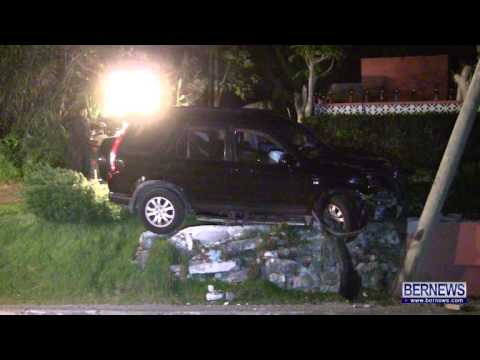 Tow Truck Removes Car After Pole Accident, Jan 18 2013