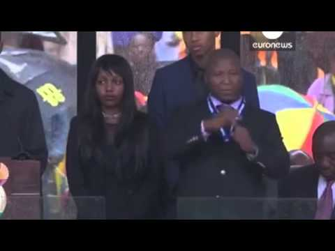 Fake Sign Language Interpreter Dance at Nelson Mandela's Funeral!