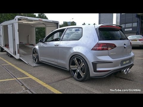 2015 Volkswagen Golf VII R400 Concept: - Start up, Exhaust Sounds & More!