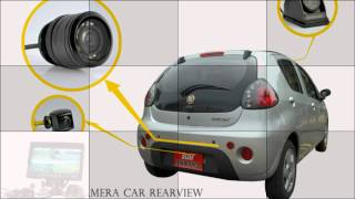 4 Camera Car Rearview-Frontal Monitoring System With 7
