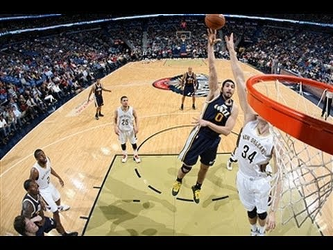 Enes Kanter Throws the Hammer Down on Jeff Withey!