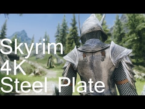 Skyrim 4K+ENB Sexy Screen Shots and 4K Texture Steel Plate for Female MOD Review スカイリム 装備