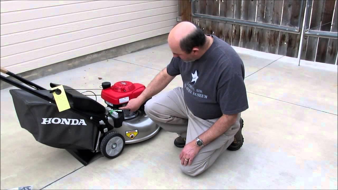 how to start a honda lawn mower
