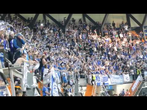 Schalke 04 fans celebrate Hoogland´s goal. Real Madrid - Schalke 04 (13/14)