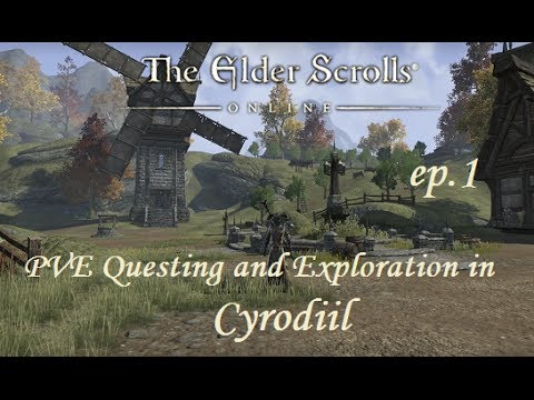 The Elder Scrolls Online - Cyrodiil PVE Questing (Ep.1) The Aldmeri Dominion - Dark Elf Battlemage