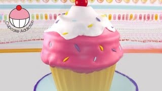 Giant Cupcake - Classic Ice-Cream Swirl Style!  A Cupcake Addiction How To Tutorial