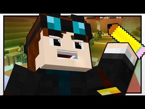Minecraft High School | THE FIRST EXAM!! | Custom Mod Adventure
