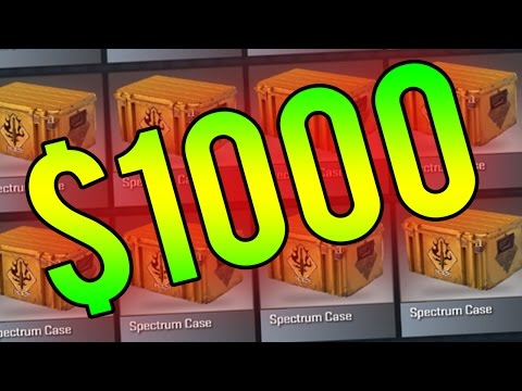 1000 spectrum case unboxing cs go opening new cases