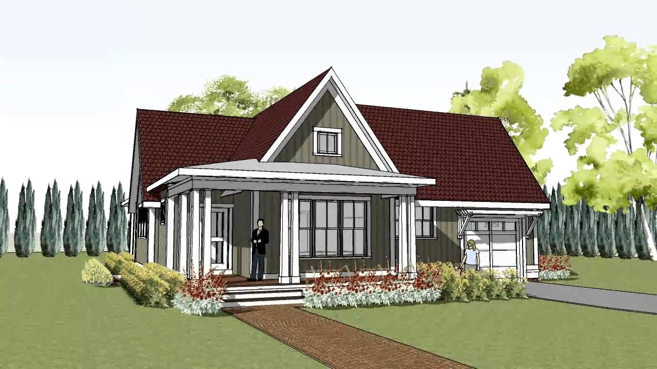 Simple yet unique cottage house plan with wrap around for Simple cottage house plans