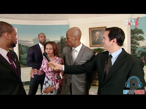 Michelle Obama Dunks On Ray Allen At the White House (Official Footage)