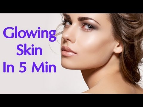 Glowing Skin in Minutes, Simple Home Remedies