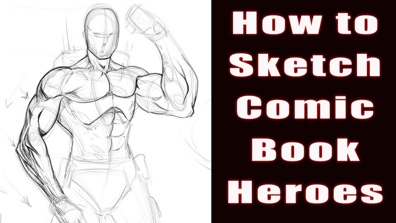How to draw comic book heroes video youtube