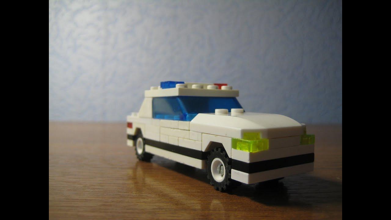 Как сделать из лего машину от полиции