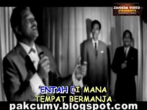 """ENTAH DIMANA (KARAOKE) Lagu P.Ramlee nyanyian Zamhari Materang dari versi filem """"Keluarga 69"""""""