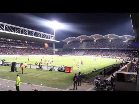 Lyon - PSG 1/0 - Fin de match ambiance Virage Nord