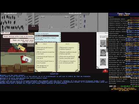 Papers, Please speedrun - ending 19 - 02:47:08 [WR] Single Segment