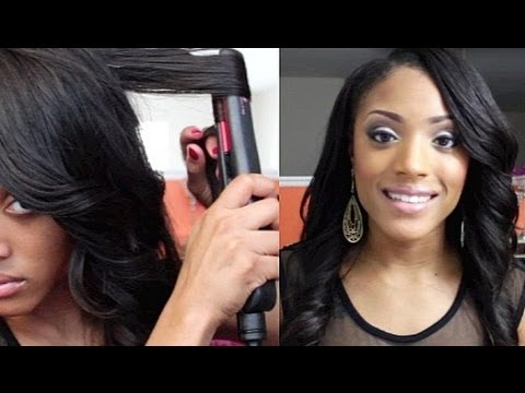 How to Curl your hair with Flat Iron/Straightener - YouTube