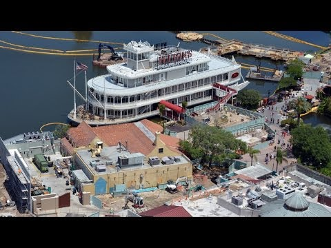 Disney Springs Construction at Downtown Disney from Characters in Flight Balloon