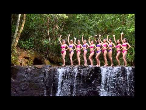 Người đẹp Hoa hậu Việt Nam trèo thác chụp ảnh bikini