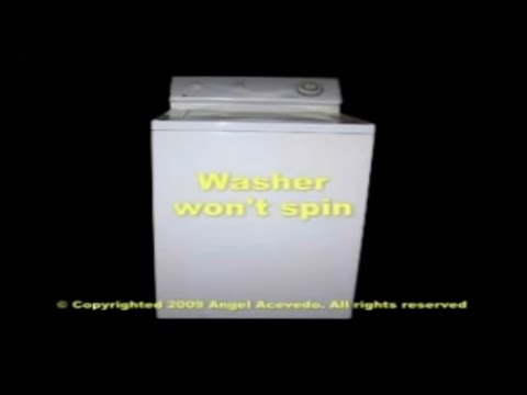 Maytag top load washer not spinning