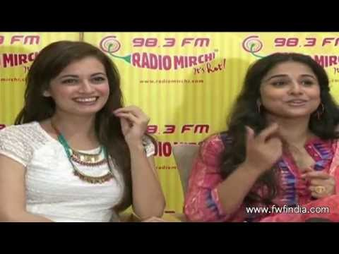 Vidya Balan and Dia Mirza Promote Bobby Jasoos on Radio Mirchi