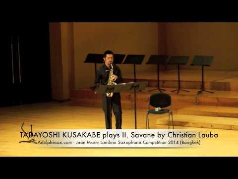 TADAYOSHI KUSAKABE plays II Savane by Christian Lauba