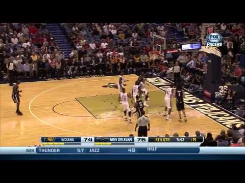 Luis Scola Blocks Lance Thomas