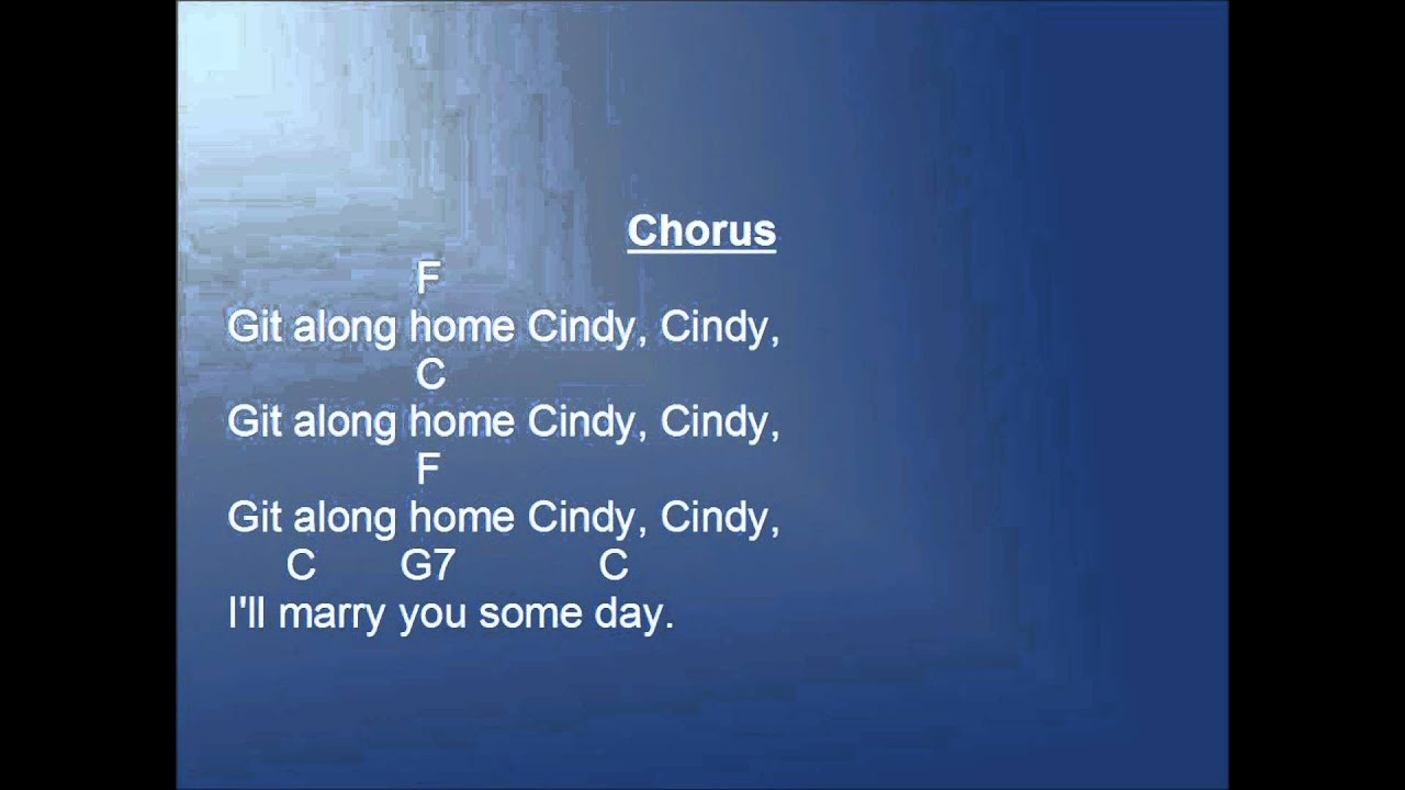 Cindy Cindy Traditional Folk Song - Lyrics - YouTube
