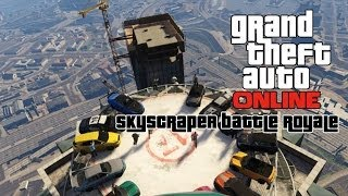GTA Online (GP Mafia Crew) 13 Car Skyscraper Battle