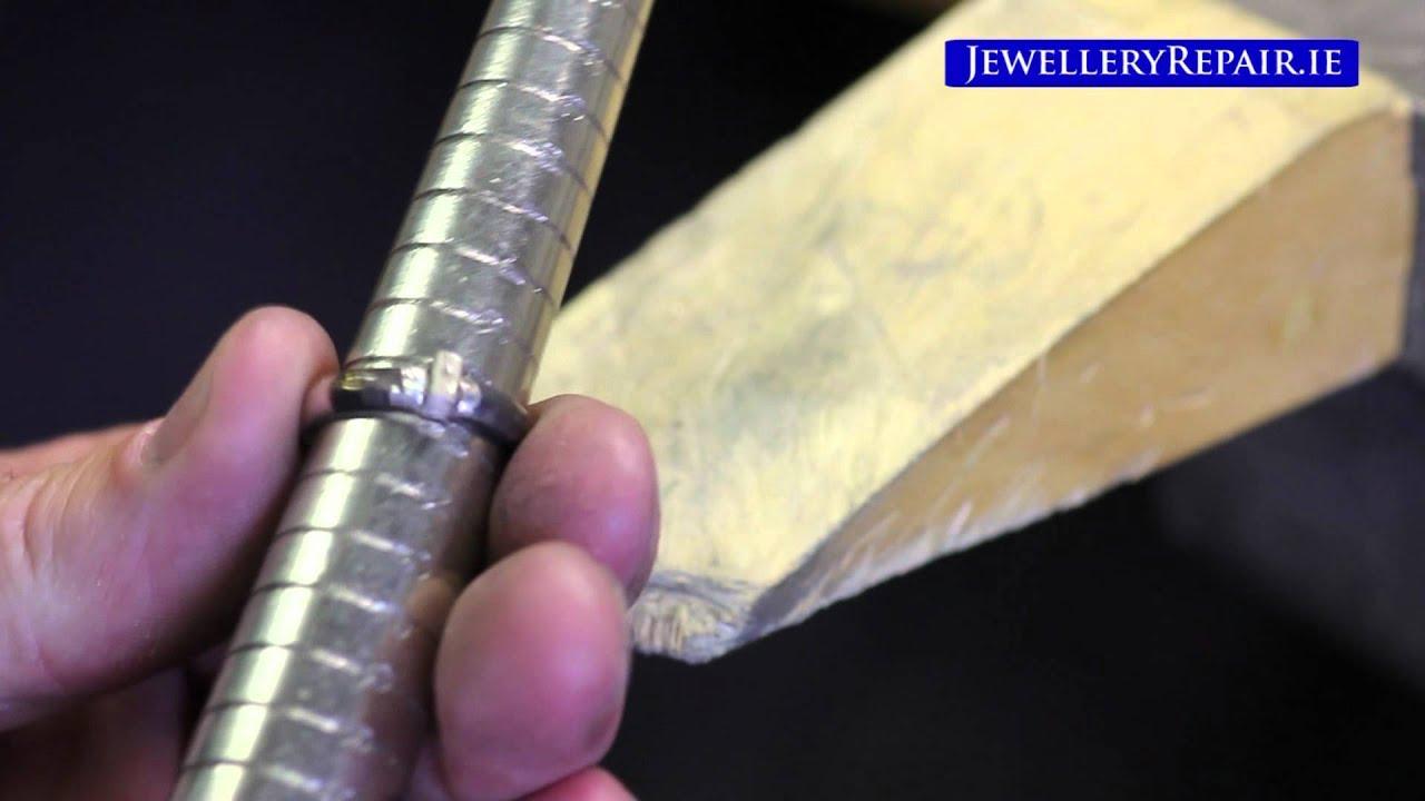jewellery repair resizing white gold ring