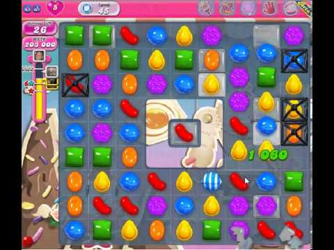 How to beat Candy Crush Saga Level 45 - 2 Stars - No Boosters - 244