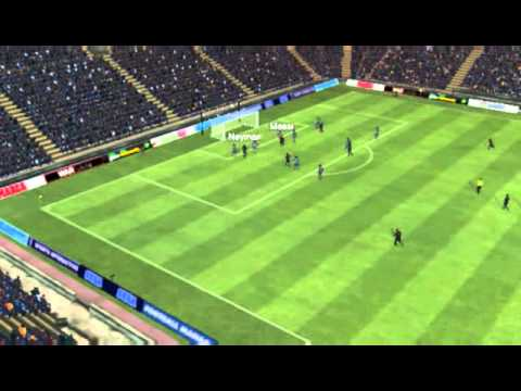 FOOTBALL MANAGER 2014 (Barcelona vs Levante   Neymar Goal 50 minutes)