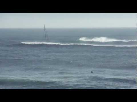 Yacht vs BIG Wave..who wins?