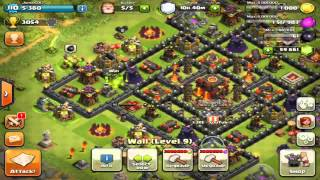 Clash Of Clans Maxing Out Base 300,000 Gems! Getting