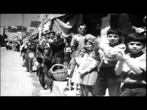 Arrival of King Abdullah bin Hussein in Jordan during timeframe of Arab-Israeli W...HD Stock Footage