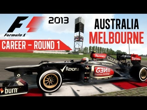 F1 2013 Gameplay - Career Mode -  Round 1 Melbourne Australia (Walkthrough Part 1 Race 1)
