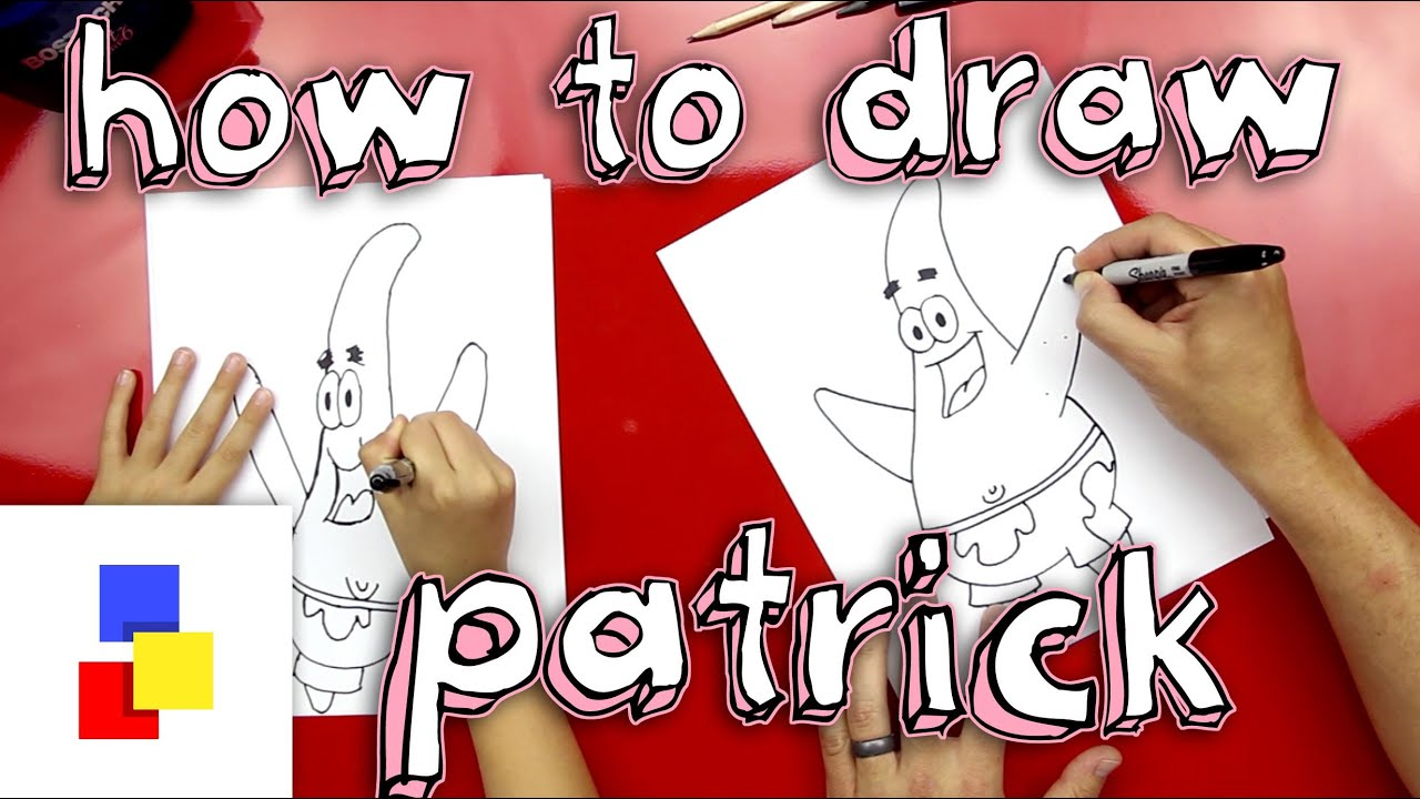 How to draw patrick step by step