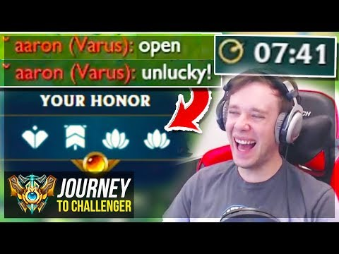 I MADE THEM OPEN WHILE AUTO-FILLED??? LOL - Journey To Challenger | League of Legends