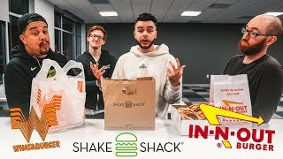 THE BEST FAST FOOD BURGER? (IN N OUT vs. WHATABURGER vs. SHAKE SHACK)