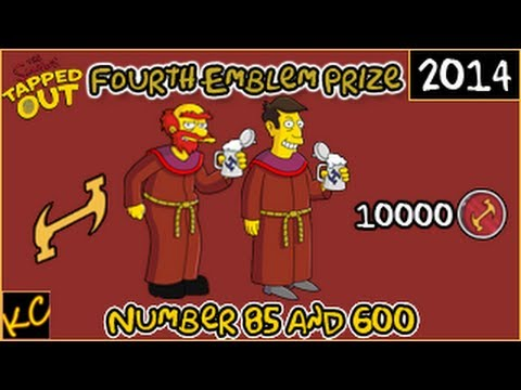 The Simpsons: Tapped Out - Stonecutters Event - Number 85 and Number 600 (Fourth Emblem Prize)